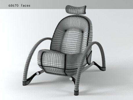 Vitra Moreover 3d model | Ron Arad