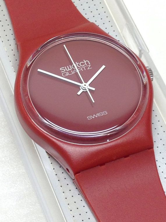 Vintage Swatch Watch GR100 1983 Mint Condition by ThatIsSoFunny
