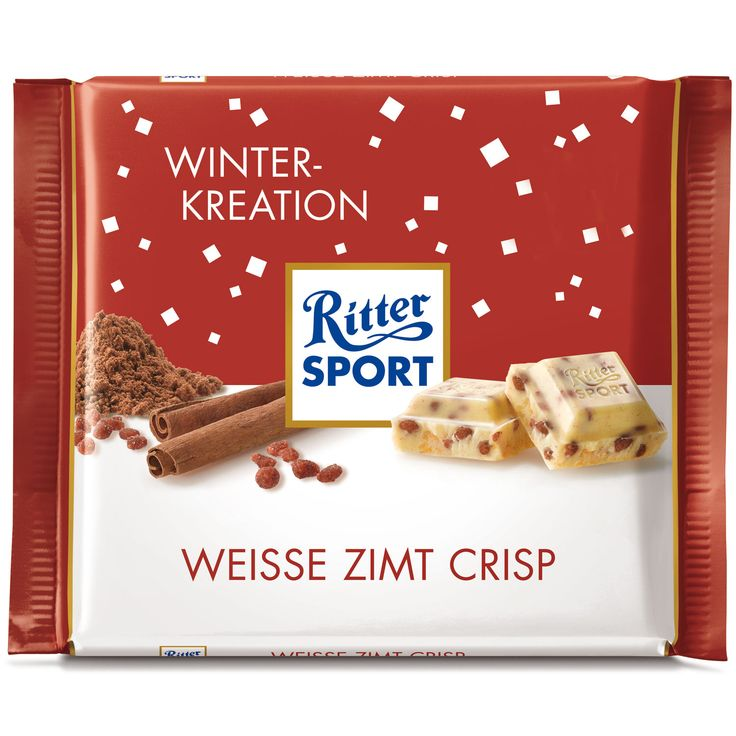 Ritter Sport Winter-Kreation Weiße Zimt Crisp | Online kaufen im World of Sweets Shop