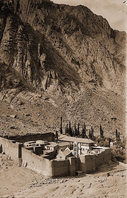 Saint Catherine Monastery, in the Sinai Pennínsula. She was Constantine's mother, and she decided that the Holly Mountain was on that location.  EGYPT