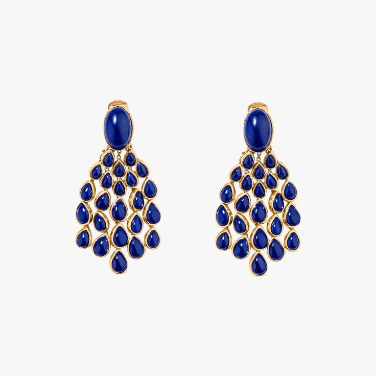 Boucles d'oreilles Cherokee Lapis Lazuli - AURELIE BIDERMANN - Find this product on Bon Marché website - Le Bon Marché Rive Gauche