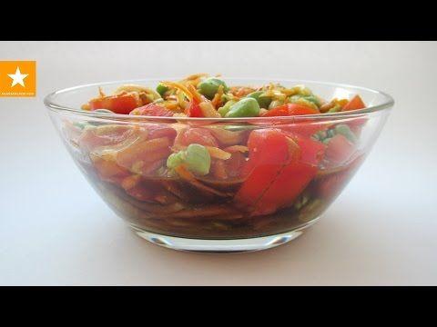 Диета! Самый вкусный белковый салат из бобов с необычной заправкой от Мармеладной Лисицы - YouTube