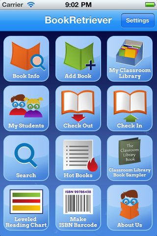 Book Retriever - This app allows you to scan, level and inventory your entire classroom library. Leveling choices include Guided Reading Levels, Lexile, Accelerated Reader, Reading Counts, DRA and Reading Recovery. SHUT UP! Downloaded... check!! Classroom library? I could do this with my own collection! :)