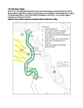 76 best social studies images on pinterest teaching social studies the nile river valley map activity egypt gumiabroncs Choice Image