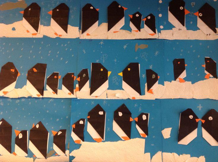 Winterwerkjes: Pinguïns gemaakt door groep 4!