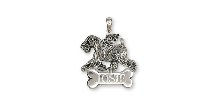Soft Coated Wheaten Angel Personalized Pendant Jewelry Sterling Silver Handmade Dog Personalized Pendant SCW10-ANP. This is hand made when ordered. 30 Day Money Back Guarantee.