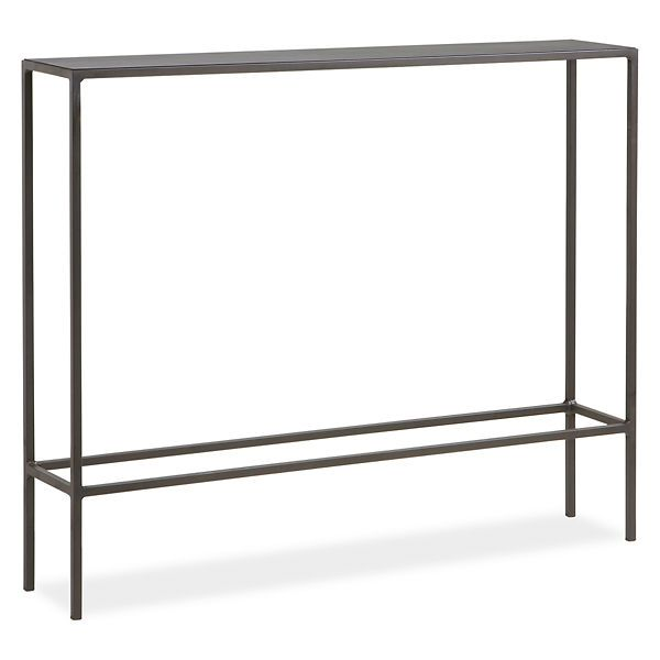 skinny enough for our entryway... Slim Console Tables in Natural Steel - Tables - Entryway - Room & Board