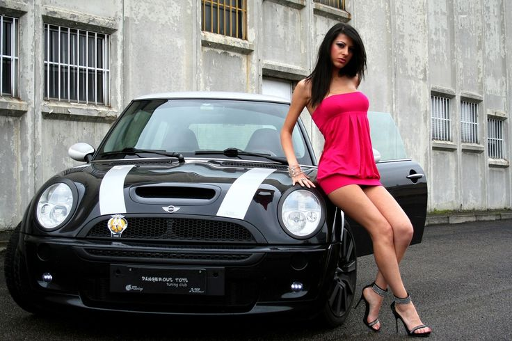 mini cooper girls Wallpaper HD Wallpaper