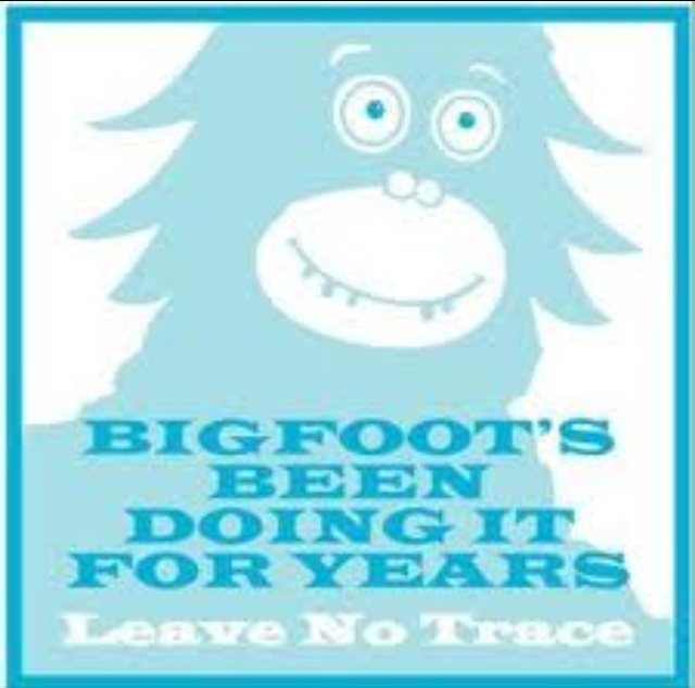 Bigfoot first to leave no trace behind sasquatch or for Leave no trace coloring page