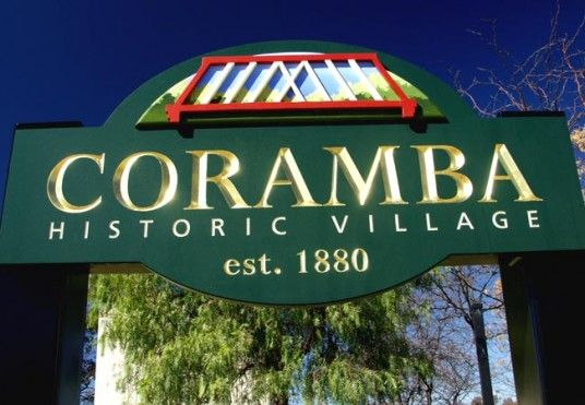 Coramba Village Entry Sign /  Danthonia Designs