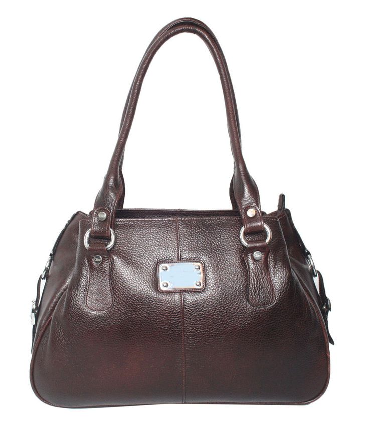 Comfort 14 inch Pure Leather Brown Handbags for Women and Girls EL58