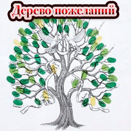 Дерево пожеланий. Шаблон дерева пожеланий