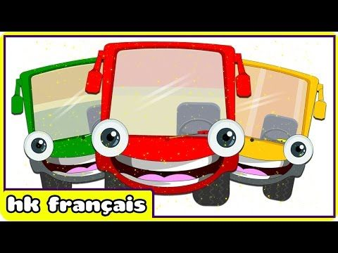 Wheels on the Bus Go Round and Round – French Nursery Rhyme (Comptines Pour Enfants) - YouTube
