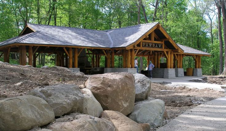 Rustic pavilion plans shaded structures rustic rails for Rustic gazebo plans