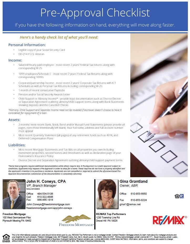 Pin By Re Max Top Performers On Mortgage Information Checklist