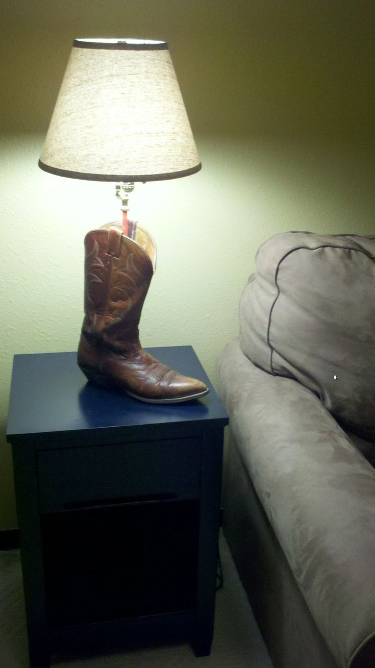 On The Journey: How To Make A Boot Lamp