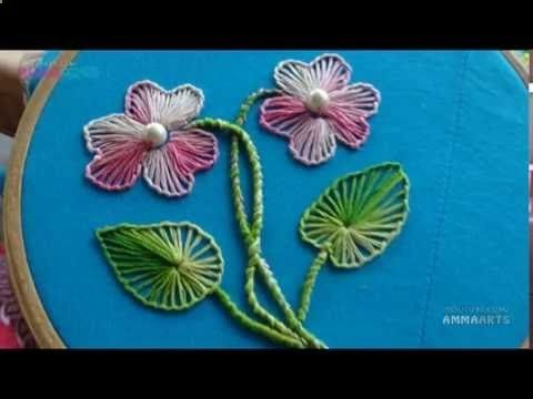 Download video: Hand Embroidery Buttonhole Stitch by Amma Arts