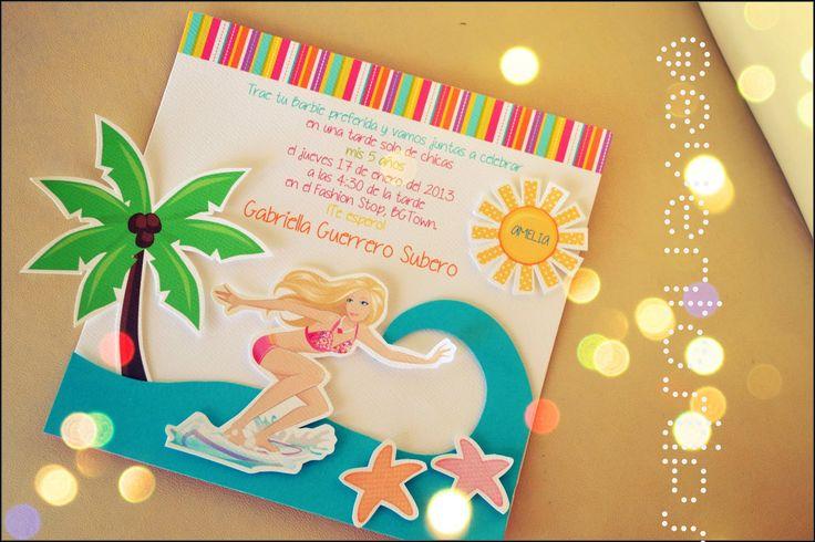 Invitaciones De Cumpleaños De Barbie - Hd Para Bajar Gratis 3  en HD Gratis
