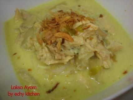 laksa ayam | Sukamasak - Aneka Resep Makanan | Resep Masakan Indonesia | Berbagi Aneka Resep Favorit Anda