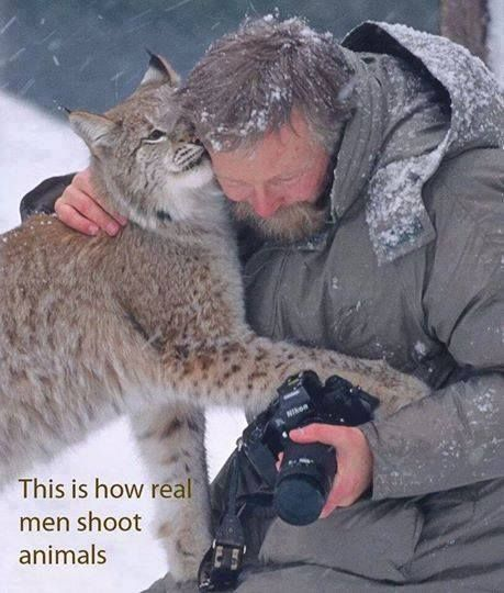 This is how real men shoot animals. This is THE ONLY WAY ANYONE SHOULD SHOOT AN ANIMAL, EVER!!