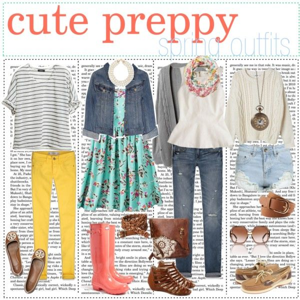 """""""cute preppy spring outfits"""" by the-tip-girly on Polyvore"""