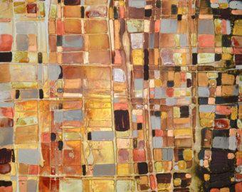 Handgemalt, Original-Artworks auf Leinwand - FREE SHIPPING für A LIMITED TIME  Die Grafik-details Titel: Light Fantastic Gesamtgröße: 36 x 36(approx90x90cm) Farben: Mehrere helle Farbe wäscht mit gold metallische highlights Rahmung: gestreckt tief umrandeten Leinwand - fertig zum Aufhängen Material: Acryl, Mischtechnik von: Caroline Ashwood (signierte auf Rückseite) Echtheitszertifikat enthalten  Kommission Kunst:  Dies ist ein sehr tief texturierte und skulpturierten Kommission Arbeit, die…