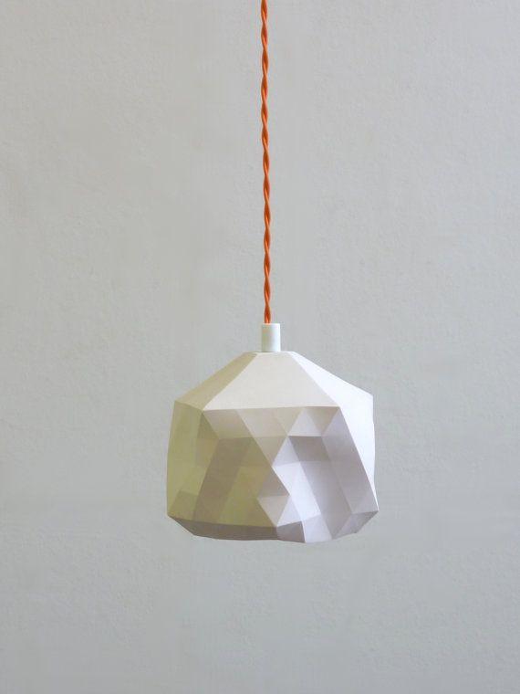 Faceted Globe Pendant Light by RawDezign on Etsy, £50.00