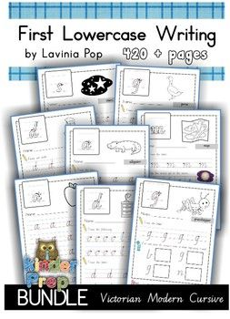 This unit contains ALL my Lowercase Handwriting sets in Victorian Modern Cursive Font.Contents:1. Circles and Lines (to teach correct letter formation)2. Beginning Sounds cut and paste3.  Alphabet Mazes4.  Letter Identification5.  Sight Words6.  Practice Makes Perfect FREE7.
