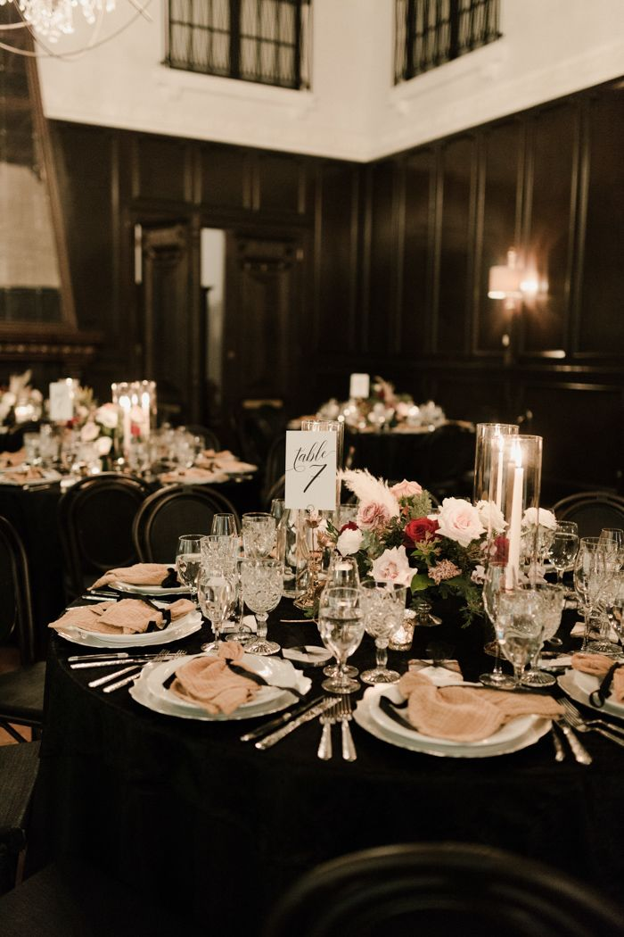 This Ebell Long Beach Wedding Shone With Moody Elegance With