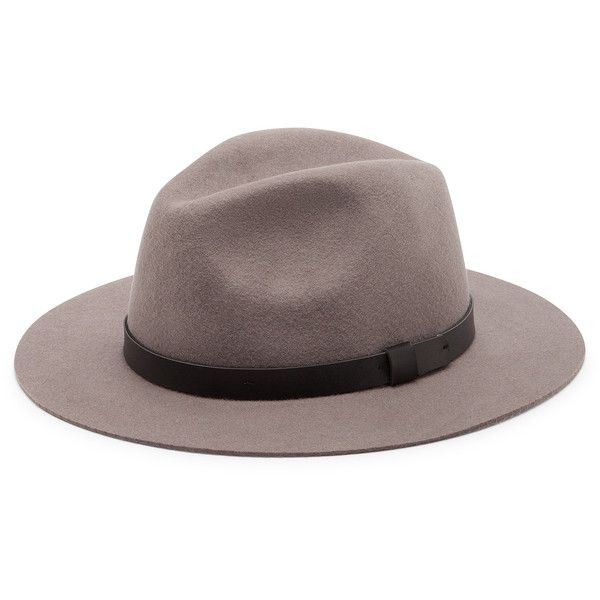 Sole Society Wide Brim Fedora With Band (€45) ❤ liked on Polyvore featuring accessories, hats, taupe, sole society, wide brim fedora, fedora hat, wide brim hat and band hats