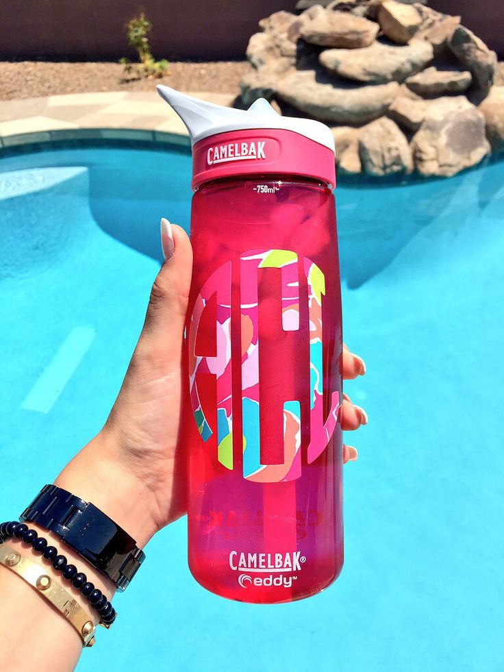 Lilly Pulitzer Monogram On A Camelbak Water Bottle