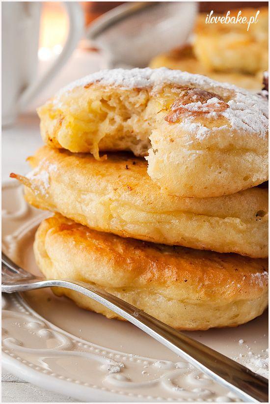 Pancakes with apple and banana / RACUCHY Z JABŁKAMI I BANANEM - ilovebake.pl
