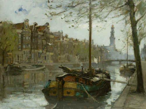 "Johannes (Jan) Korthals 1916-1972 ""Prinsengracht te Amsterdam"""