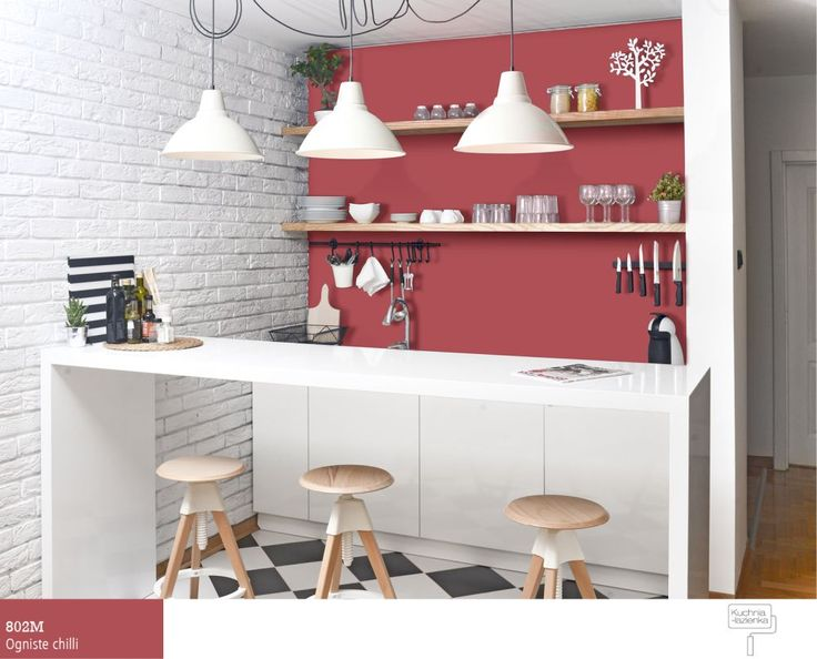 czerwona kuchni wwersji mini