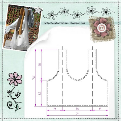 creative cafe: Free Bag Pattern: Bag template tuttaunpezzo
