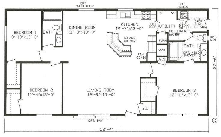 Mobile Home Blueprints 3 Bedrooms Single Wide 71 ...
