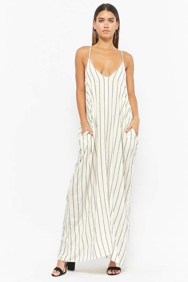eab89769541 Forever 21 Pinstriped Maxi Dress