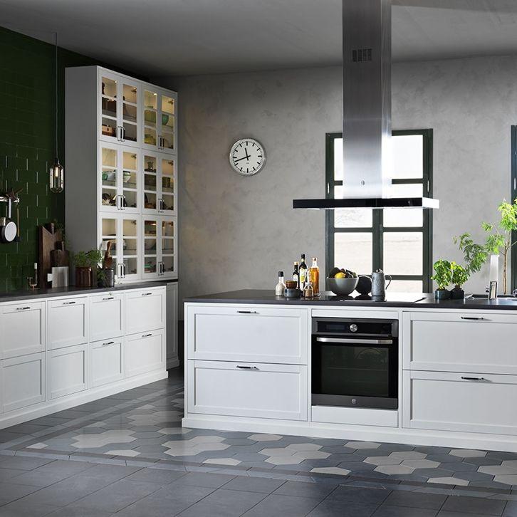 Kjøkkeninspirasjon -  Hvitt kjøkken - Gastro hvit ask
