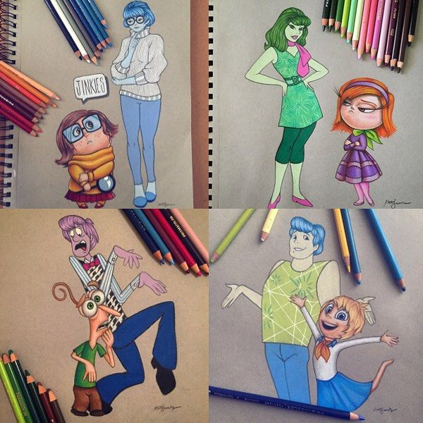 4 of the Inside out & Scooby doo colorswaps, that all started with @dinotomic color swap competition, I've had so much fun drawing these, scooby/bingbong are already done and that only leaves scrappy&anger to do :) Which one is your favorite???