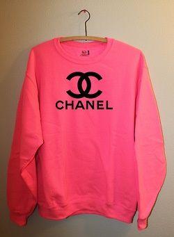 Neon chanel sweater. ❤