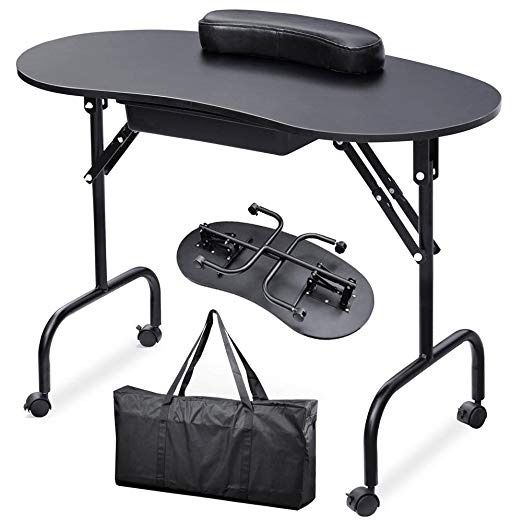 Yaheetech Portable & Foldable Manicure Nail Table