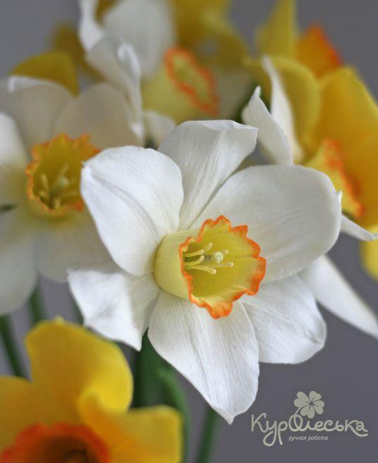 Нарциссы из полимерной глины. в каталоге Разное на Uniqhand - цветы, ручная работа, полимерная глина, холодный фарфор