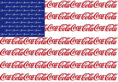 """Coca Cola ~ :: """"Cola Wars"""" - Pepsi/Coca Cola Flag"""