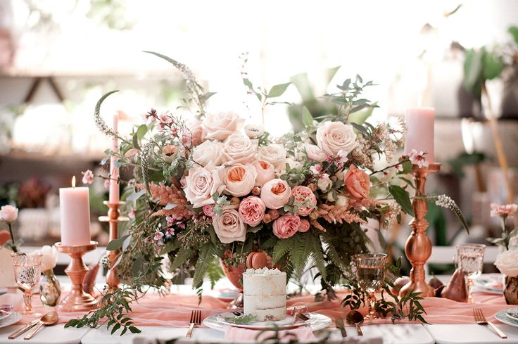 rose gold baby shower - http://ruffledblog.com/botanical-baby-shower-with-rose-gold photo LoveHer Photography