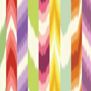 Missoni Kirbet Fabric #100 via Safari Living #fabric #cotton #ikat #multicolor #red #purple #green #yellow #orange