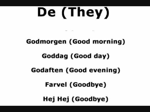 Learn Danish - Basic Words