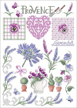 Provence - Stickvorlage Lindner