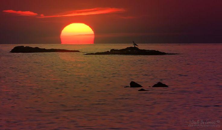 Sunrise between the rocks by dlddanilo