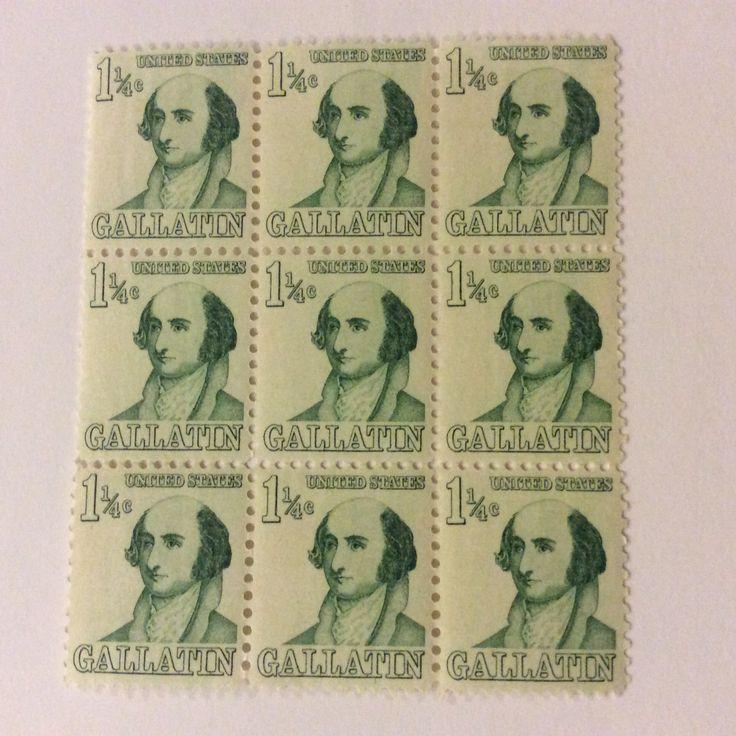 Unusual 1-1/4 cent US stamp honoring Gallantin