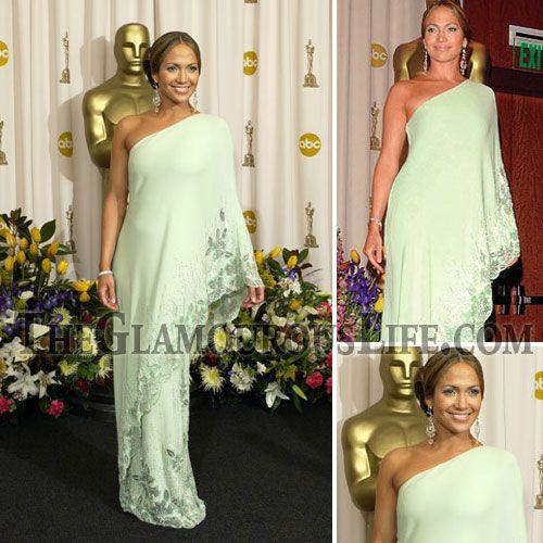 Jennifer Lopez Mint Green Dress